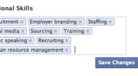 LinkedIn copieert regelmatig functionaliteit van Facebook, zoals Likes en Page Analytics, maar andersom gebeurt ook. Facebook heeft stilletjes een nieuwe Professionals Skills sectie toegevoegd aan de About sectie van prive-profielen. Met deze nieuwe optie kun je professionele vaardigheden toevoegen aan het gedeelte over werk en opleidingen