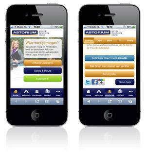Werving- en detacheringsbureau Astorium lanceert vandaag de eerste volledig mobiele sollicitatiesite in Nederland: mobielsolliciteren.nl. De mobiele site maakt effectief gebruik van het LinkedIn profiel. Astorium maakt solliciteren met een smartphone hiermee ergernisvrij. Bart Jan van Trommel, directeur Astorium: 'Probeer maar eens te solliciteren met een smartphone. Je denkt dat dit […]