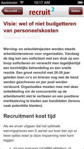 Recruit2 app artikel