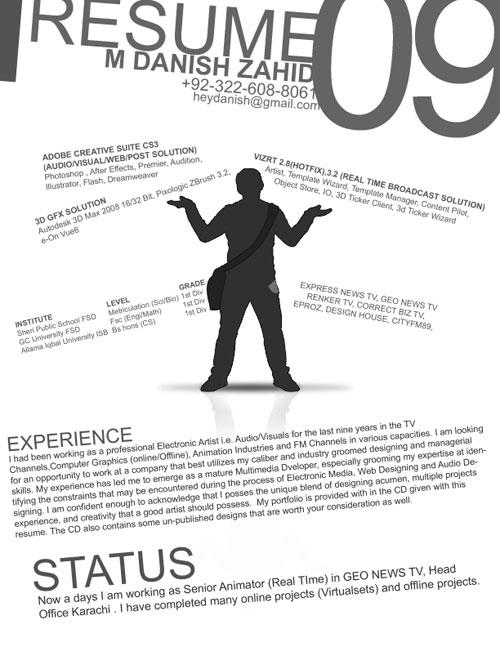 """De meeste CVs zijn standaard en saai. Toch zijn er velen die er creatieve en fraaie exemplaren ervan weten te maken. Zoals dit fraai opgemaakte exemplaar van Danish Zahid, een Senior Animator: Deze serie van creatieve CV's of bijzondere online profielen is terug te vinden onder de blog categorie """"CV's […]"""