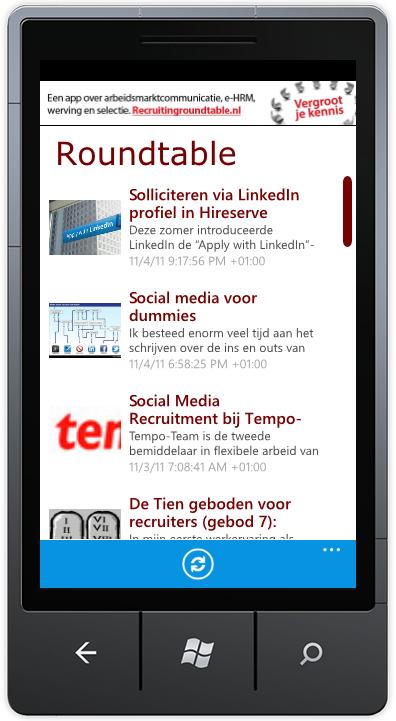 Als Windows Phone 7 (WP7) bezitter heb je er even op moeten wachten maar onze WP7 app is vanaf nu beschikbaar! Dus wil je niets missen van alle belangrijke en interessante blog-artikelen op het gebied van Recruitment, Loopbaan, HRM en Arbeidsmarktcommunicatie? En lees je deze artikelen het liefst op je […]