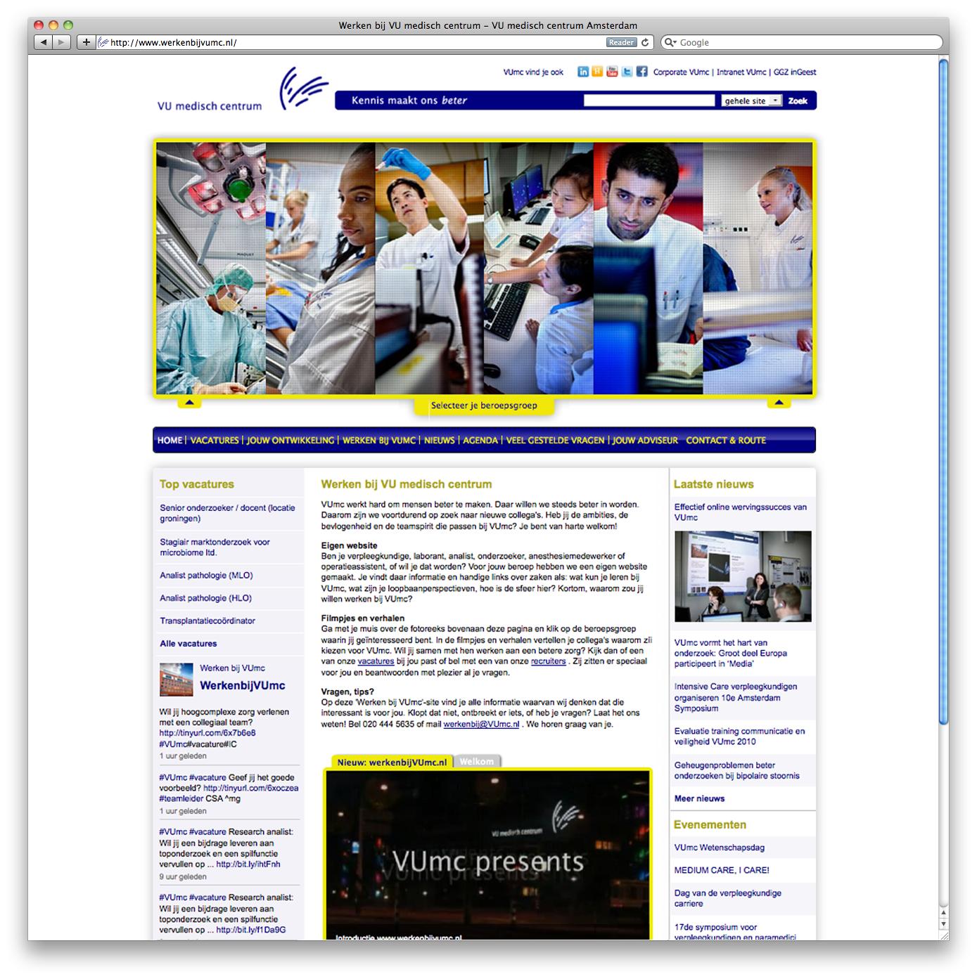 VUmc heeft TMP Worldwide gevraagd een nieuwe website te ontwerpen die past bij de nieuwe manier van werven van het VUmc: http://www.werkenbijvumc.nl. Waar er voorheen meer afstand was tussen kandidaten en organisaties, benaderen de e-recruiters van VUmc actief de markt via online kanalen. De nieuwe website speelt hierin een belangrijke […]